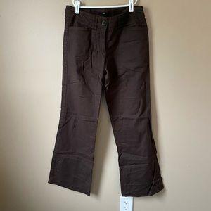 H&M linen brown pants